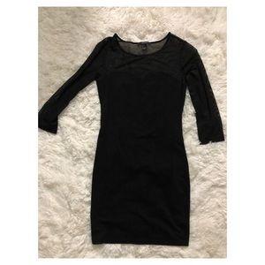 Forever 21 black mesh dress